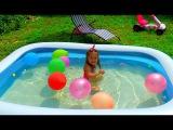 КУКЛА БАРБИ бассейн с сюрпризами и игрушками для бассейна Игры для детей Barbie pool of surprise