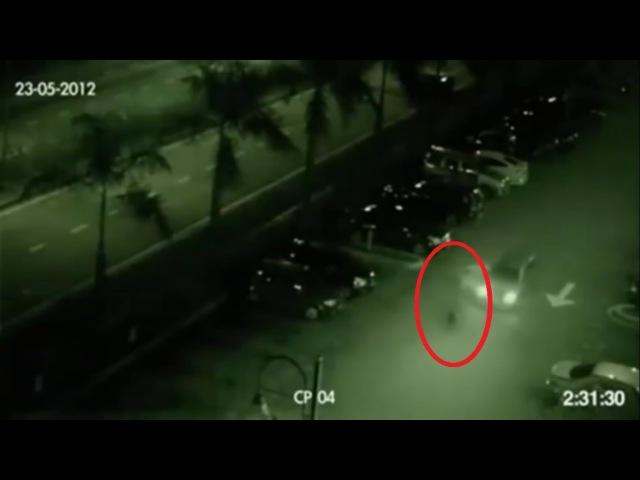 ШОК Камеры наружного наблюдения засняли призрака