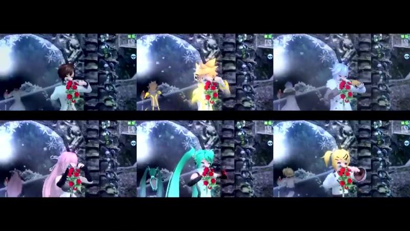 [Project DIVA Arcade] The Snow White Princess is - Kaito Len Luka Meiko Miku R