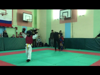 19.11.16. Омаров Адам (синий). Спортивный контактный бой. 1/2 финала. До 30 кг.