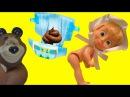 Барби Маша и Медведь видео с куклами игрушки и игры для детей на русском Маша обк...