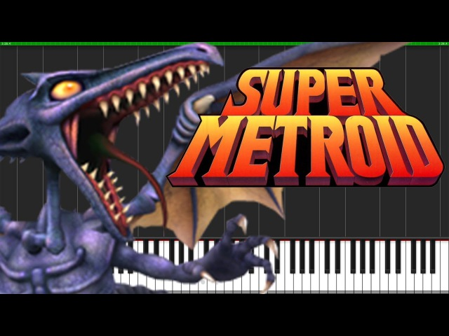 Ridley's Theme - Super Metroid [Piano Tutorial] (Synthesia) DS Music