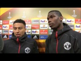 Manchester United 4-1 Fenerbahce - Paul Pogba & Jesse Lingard Post Match Interview