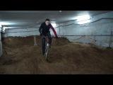 Стройка памп-трека в подвале велошколы