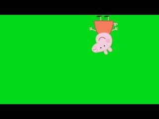 Peppa Pig Andando #2 - Peppa Pig Walking #2 [Fundo Verde - Green Screen]