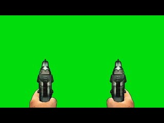 Pistola #3 - Pistol #3 [Fundo Verde - Green Screen]