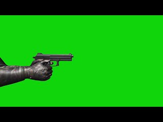 Pistola #4 - Pistol #4 [Fundo Verde - Green Screen]
