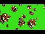 Chuva de Trollface #1 - Rain of Trollface #1 [Fundo Verde - Green Screen]
