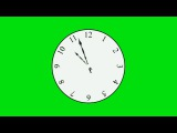 Relógio - Ponteiros Girando #1 / Clock - Pointers Spinning #1 [Fundo Verde - Green Screen]
