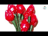 How to Make paper quilling How To Make  Peony Felt Flowers Hershey s Kisses into a Flower Rose Buds
