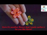 DIY Paper Crafts   How to make a Quilling Flower and Easy origami flower instructions   xvid