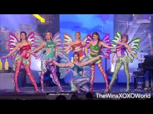 HD Winx Club Capodanno con Gigi D'Alessio New Year Show 2017 Mediaset Canale 5 Italiano
