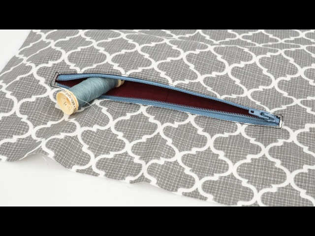 How to Sew a Zippered Pocket