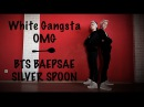 White Gangster OMG BTS 방탄소년단 BAEPSAE SILVER SPOON 뱁새 by Refractory Gears