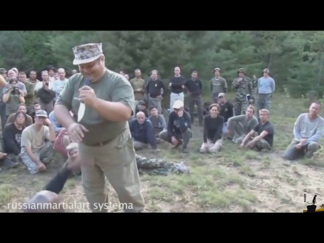 Российский спецназ боевое искусство - полковника Михаила Рябко (владение ножом)
