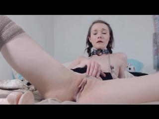 Princess bambie - hot babe loves big dildo (solo, masturbation, shaved, webcam, camshow, skinny, slim)