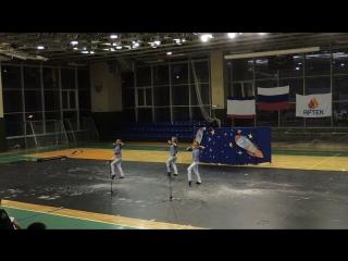 Выступление Насти, Насти и Маши на гала-концерте, Артек, 9 смена 2016 год