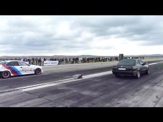 BMW E30 2.5i TURBO vs BMW E39 V8 TURBO