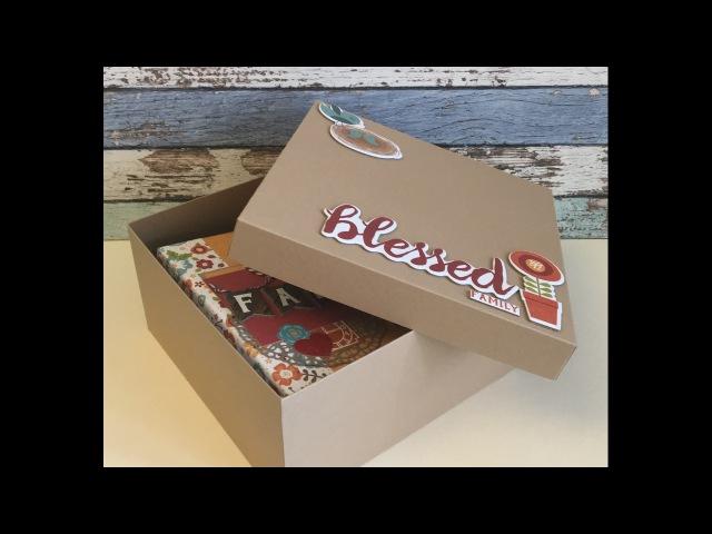МК - коробка для альбома - How to make a BOX tutorial