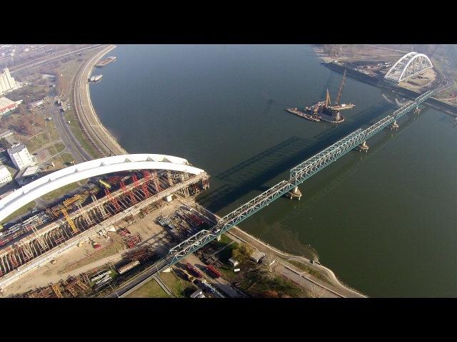 Izgradnja novog mosta na Dunavu ** Novi Žeželjev most ** - Snimanje iz vazduha !