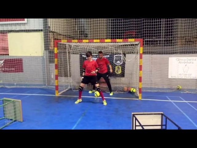 Тренировка вратарей (футзал, мини-футбол, futsal, futbol sala)