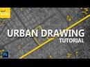 Urban Site Plan Tutorial - Dark Background - Photoshop Drawing