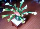 D I Y How to make a paper flower lily Làm hoa loa kén bằng giấy nhún