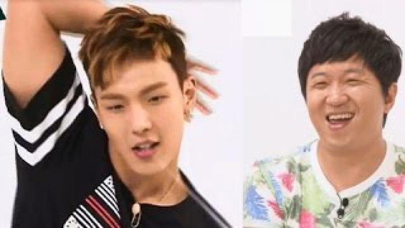 Monsta X : Weekly Idol [Eng SubHD] Girl group dance Funny dance cut 몬스타엑스
