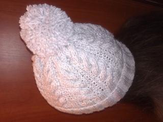 Зимняя шапка спицами+как связать шапку с помпоном для начинающих.Зимняя шапка