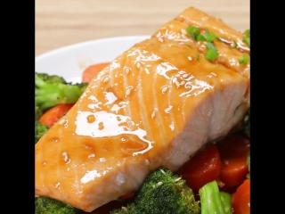 Лосось Терияки (One-Pan Teriyaki Salmon Dinner)