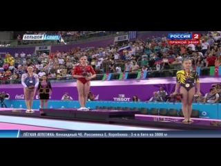 Спортивная гимнастика А.Мустафина выиграла золото на брусьях Баку 2015