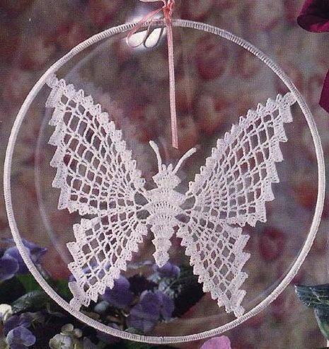схема бабочки крючком для начинающих