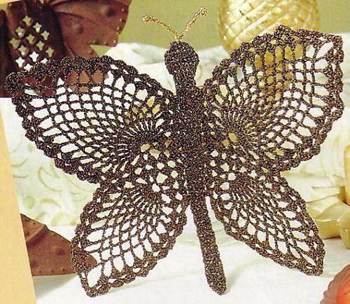 узор бабочки крючком