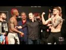 UFC Fight Night London Marc Diakiese vs Teemu Packalen Weigh in Face Off