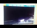 Видео с веб-камеры пляж Огонёк Адлер, вспышка в Ту-154