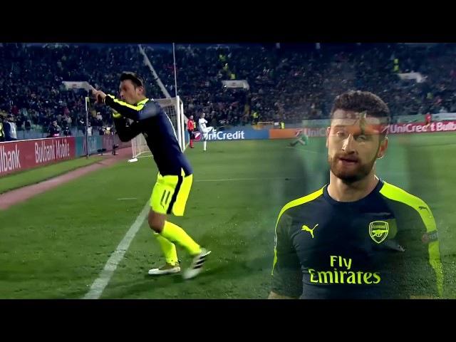 Mesut Özil goal. Arsenal vs Ludogorets, 2016