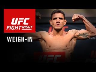 Прямая трансляция церемонии взвешивания участников турнира UFC Fight Night: dos Anjos vs. Alvarez