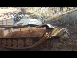 Tank US army M1 Abrams Stuck in Mud . M1A1 OFF Roading