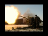 122 mm howitzer 2A18 (D-30).D-30 in direct fire during a training exercise
