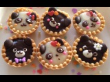 Valentine's Day Cute Chocolate Animal Tarts (panda&ampbear)