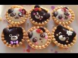 Valentine's Day Cute Chocolate Animal Tarts (panda&ampbear)