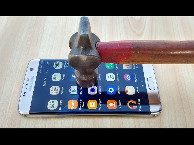 Samsung Galaxy S7 Edge Screen Scratch Test Gorilla Glass 4