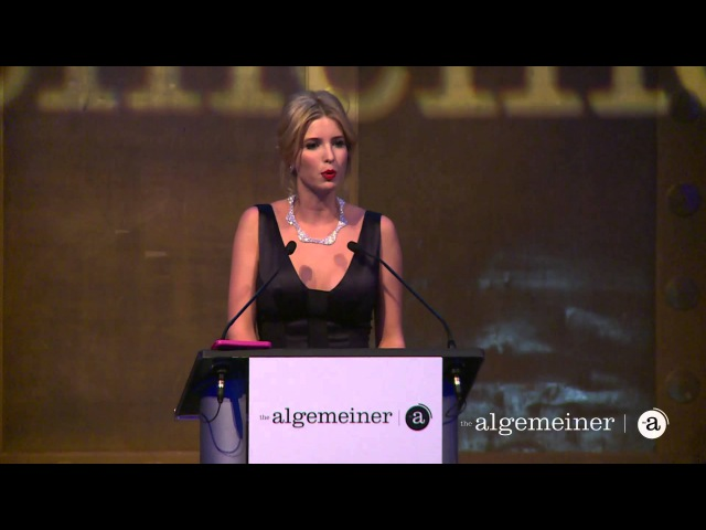 Donald Trump accepts The Algemeiner's 'Liberty' Award presented by daughter Ivanka Trump