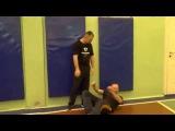 Съём ударов руками и телом на скорости. Русский рукопашный бой - стиль Соловьева