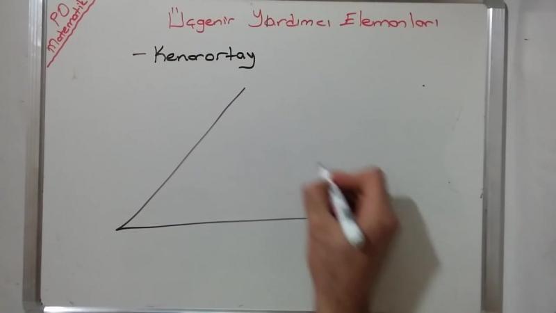 8. Sınıf Üçgenin Yardımcı Elemanları- Yükseklik Kenarortay Açıortay Kenar Orta Dikme