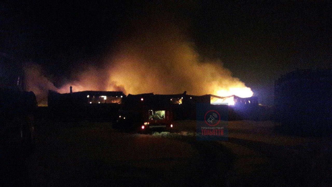 ВТольятти пламенеют тысяча квадратов складских помещений наОбводном шоссе