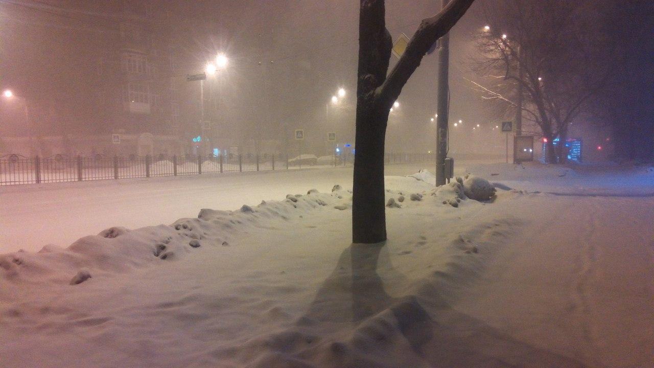 Заснежило: В Харькове снова был снег (ФОТО)