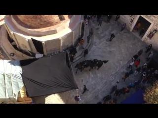Robin Hood action scenes in Dubrovnik