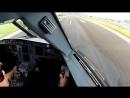 Потрясающее видео из кабины пилотов A-320. Music: Pink - Try