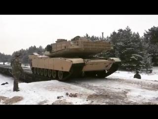 Танки США стали ближе к России Польша приняла первую броню